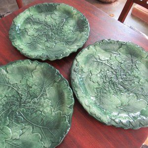 Set of 3 Handpainted Italian Majolica Plates